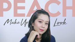 Wajah Cerah dengan Peach Make up Look
