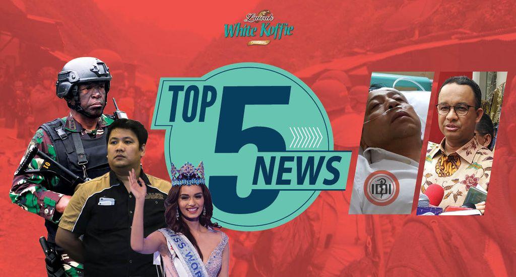 Top 5 News: Perwira TNI Tolak Kenaikan Pangkat, Setnov Diperiksa Dokter IDI