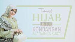 Tutorial Hijab untuk Kondangan ala Wanita Rusia