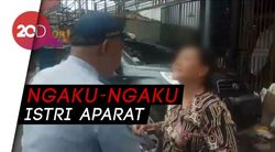 Tak Terima Diderek, Wanita ini Protes ke Petugas Dishub