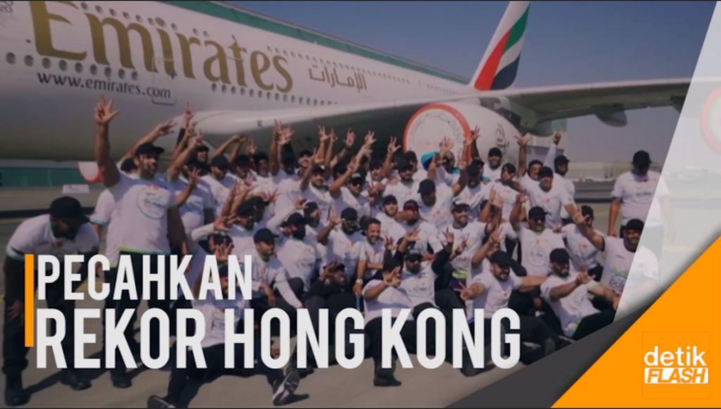 Tarik Pesawat Airbus A380, 56 Polisi Dubai Pecahkan Rekor Dunia
