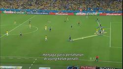 Gol Spektakuler James Rodriguez ke Gawang Uruguay di PD 2014