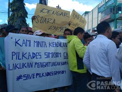 Pemilihan Kepala Desa Dinilai Ancur Warga Simasom Ricuh