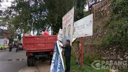 Panwas Dan KPU Toraja Pembersihan Kampanye Yang Tak Sesuai