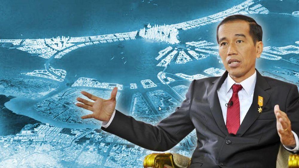 Jokowi Lanjutkan Proyek Tanggul Raksasa