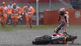 Dovizioso Kuasai FP Kedua, Marquez Kecelakaan