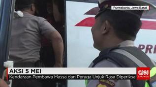 Polisi Periksa Kendaraan yang akan ke Jakarta