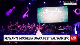 Penyanyi Cilik Indonesia Raih Juara Festival Musik Sanremo
