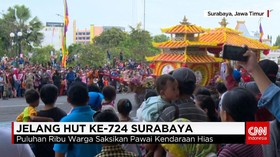 HUT Kota Surabaya, Pemkot Gelar Parade Bunga dan Budaya