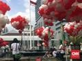 Jelang Vonis, Ahok Terima Dukungan Balon Merah Putih