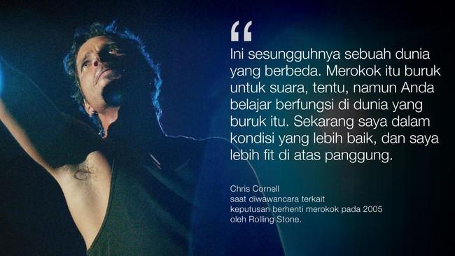 <p>Chris Cornell meninggal secara mendadak dan tidak terduga pada usia 52.</p>
