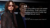 <p>Cornell dikenal karena terlibat dalam dua band ikonis dan menyanyikan 'You Know My Name', lagu tema serial James Bond, Casino Royale.</p>
