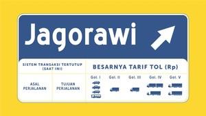 Besok, Tarif Satu Pintu Jalan Tol Jagorawi Berlaku
