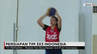 Persiapan Tim 3x3 Basket Indonesia