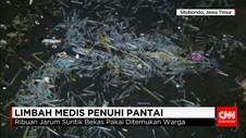 Tumpukan Limbah Medis Ditemukan di Pantai Belumbung Situbondo