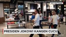 Presiden Jokowi Habiskan Akhir Pekan Bersama Cucunya