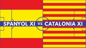 Duel Spanyol XI vs Catalonia XI