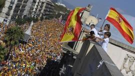 Parade Hari Nasional Spanyol Hadapi Ancaman Catalonia Merdeka