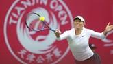 <p>Maria Sharapova yang saat ini menduduki peringkat 86 dunia selanjutnya akan menghadapi petenis non-unggulan atas Polandia Magda Linette di babak kedua. (AFP PHOTO / STR)</p>