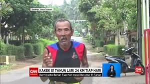 VIDEO: Eks Atlet 81 Tahun Lari 24 KM Demi 'Narik' Becak