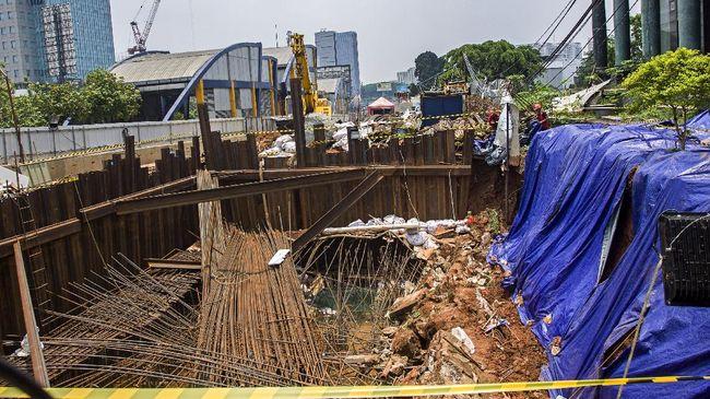 Longsor di Menara Saidah Tak Ganggu Pengerjaan Proyek LRT
