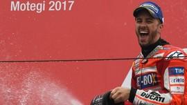 FOTO: Dovizioso Kalahkan Marquez di MotoGP Jepang