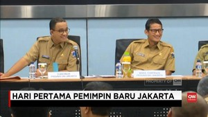 VIDEO: Hari Pertama Pimpin Jakarta, Anies-Sandi Keliling