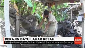 Perajin Batu Lahar Terancam Tak Bisa Produksi