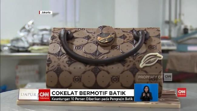 VIDEO: Kreasi Unik, Ada Cokelat Bermotif Batik
