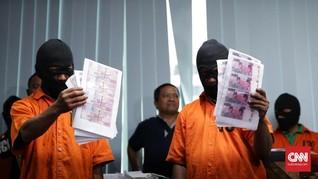 Uang Palsu Sindikat Bangkalan Beredar di Enam Provinsi