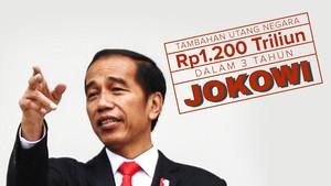 Tambahan Utang Negara Rp1.265 Triliun dalam 3 Tahun Jokowi