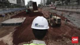 FOTO: Pembangunan Konstruksi MRT Capai 80 Persen