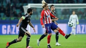 Atletico Madrid Imbang Lawan 10 Pemain Qarabag FK