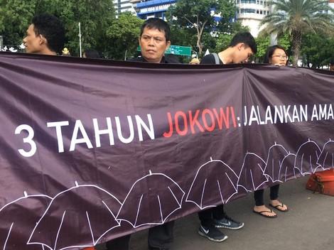 Warna-warni Tuntutan pada Demo 3 Tahun Jokowi-JK