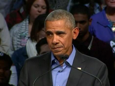 VIDEO: Naik Pentas Kampanye, Obama Sindir Politik Perpecahan