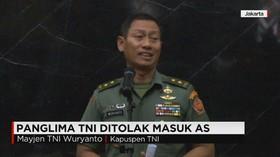 Panglima TNI Dilarang Memasuki AS