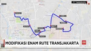 VIDEO: Hindari Macet, Transjakarta Rekayasa Enam Rute