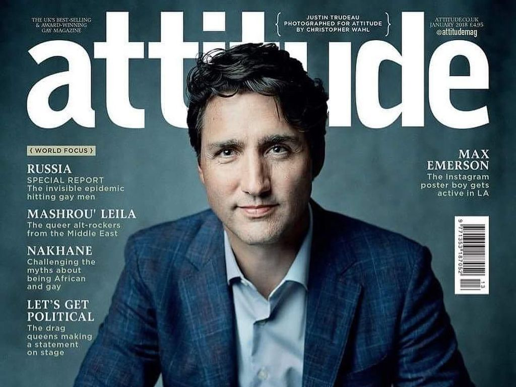 Gantengnya PM Kanada Justin Trudeau Jadi Model Majalah LGBT