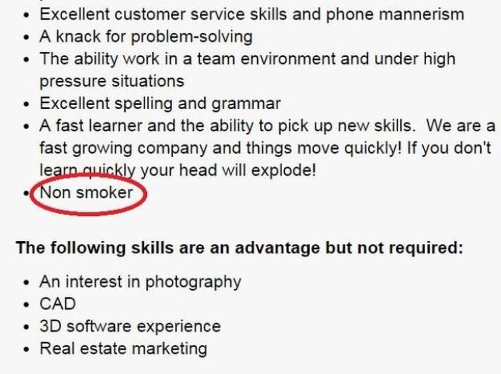 Perusahaan Australia Mulai Cari Karyawan yang Tidak Merokok