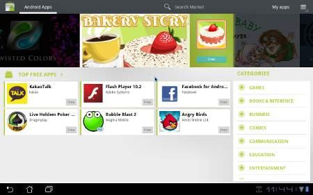 Android Market Honeycomb