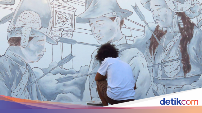 Mural prajurit kraton kritik kondisi kota yogyakarta for Mural yogyakarta