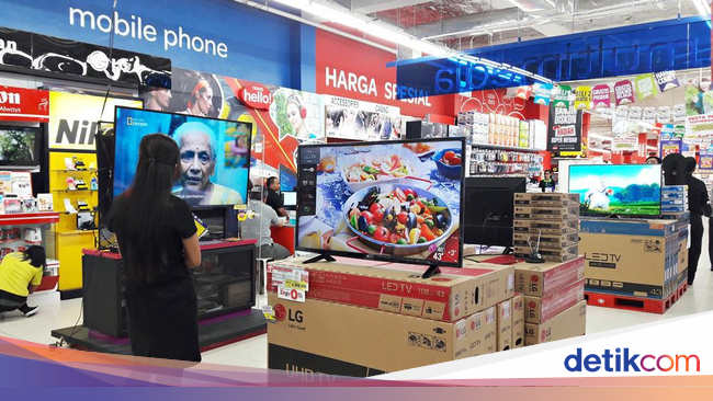 transmart carrefour gelar promo elektronik mulai led tv sampai kulkas. Black Bedroom Furniture Sets. Home Design Ideas