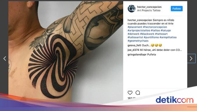 Ngetren Di Instagram Rela Menahan Sakit Demi Tato Di Ketiak