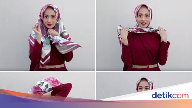 10 Kreasi Tutorial Hijab Segitiga Untuk Sehari Hari