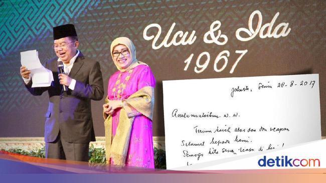 Coretan Tangan Istri Jk Di Hari Jadi Pernikahan Ke 50