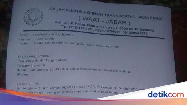 Demo Sopir Angkot Dan Taksi Di Bandung Selasa Besok Ditunda