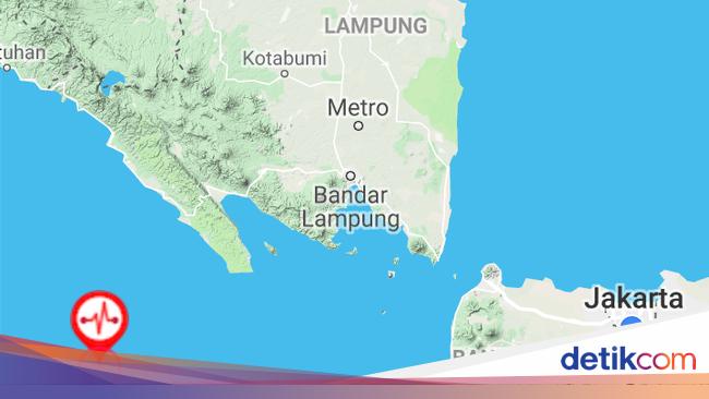 Gempa 5,1 SR Guncang Pesisir Lampung, Tak Berpotensi Tsunami