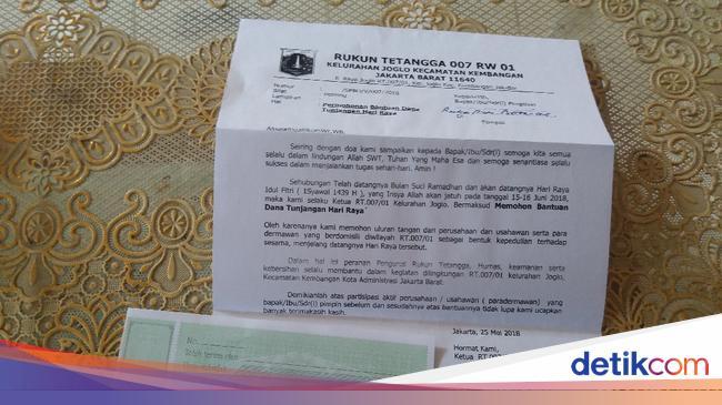 Beredar Surat Rt Minta Thr Di Joglo Begini Penjelasannya