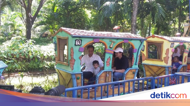 JGLE Jokowi Ajak Cucu Main ke JungleLand Bogor