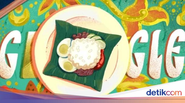 Nasi Lemak Jadi Google Doodle, Kenali Versi Asli Makanan Ini